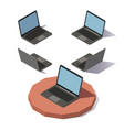 isometric lowpoly laptop vector image
