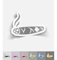 realistic design element cigar vector image