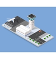 Isometric 3D airstrip vector image