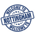welcome to nottingham vector image