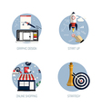 flat icons concept 6 vector image vector image