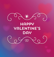 Happy Valentines day pink and blue background vector image vector image