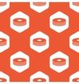 Orange hexagon disc pile pattern vector image vector image