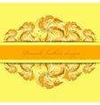 Yellow orange peacock feathers pattern background vector image