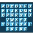 Alphabet font flat design vector image