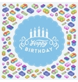 Birthday decorating design vector image