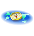 compass world map vector image
