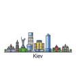 flat line kiev banner vector image
