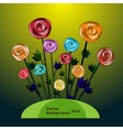 Flower background with roses vector image