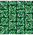 green stained glass window vector image