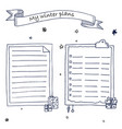 hand drawn ink christmas plans template vector image