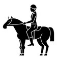 horse racing - rider - horseman - jockey icon vector image