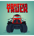 monster truck big car cartoon style isolated vector image