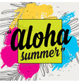 Summer quote party background with tropical vector image