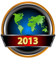 New Year icon vector image vector image