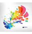 Abstract geometric splash on white background vector image