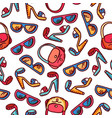 seamless pattern of woman fashion accessories vector image vector image