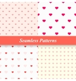 Seamless simple patterns with hearts vector image