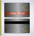 Steel Gift Card vector image