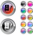 Karaoke multicolor round button vector image vector image