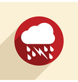 cloud rain lightning the weather icon vector image