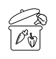 cooking vegetables isolated icon design vector image