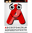 funny letter a cartoon vector image