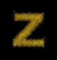 gold dust font type letter z vector image