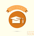 graduate hat Education sign symbol icon college or vector image