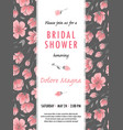 invitation bridal shower card with sakura flowers vector image