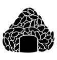isolated onigiri roll silhouette vector image