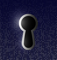 keyhole on the background of binary code vector image