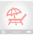 Lounger Beach Sunbed Chair icon vector image