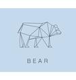 modern icon of Bear logotype design vector image