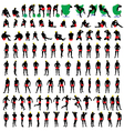 nude mens silhouettes big vector image