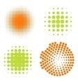 Set of Abstract Halftone Circles Logo vector image