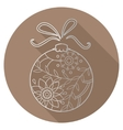 Flat icon of christmas toy vector image vector image