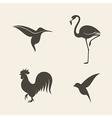 Abstract birds vector image vector image
