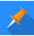 Colorful pushpin icon in modern flat style with vector image