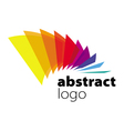 abstract logo spectrum curved sheets vector image vector image