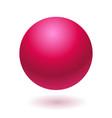 pink glossy ball vector image vector image
