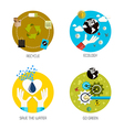 flat icons concept 8 vector image vector image