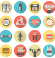 Modern Flat Design Fitness icon Set vector image