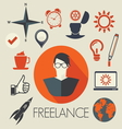 freelance leadership teamwork1 vector image vector image