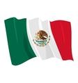 political waving flag of mexico vector image vector image