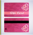Pink Gift Card vector image