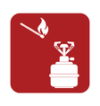 burner matches icon vector image