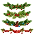 Christmas Borders Set vector image