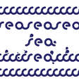 Deep blue sea vector image