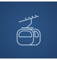 Funicular line icon vector image